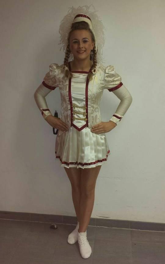 Auch Michelle Baumgart konnte mit einem sauberen Durchgang bei den Tanzmariechen Junioren zeigen, dass man mit ihr in Zukunft noch rechnen muss.